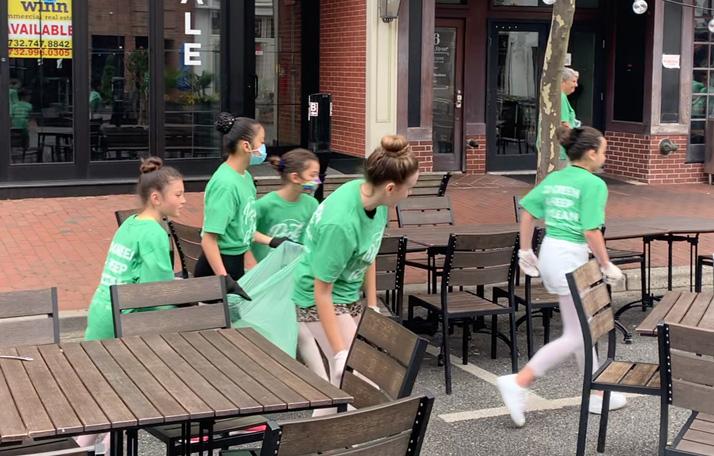 Ballet Students Clean Up Garbage
